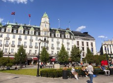 Oslo Grand Hotel - Photo: Andreas Haldorsen - Creative Commons Attribution-Share Alike 4.0 International